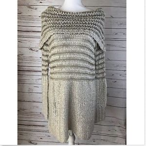 Umgee Off the Shoulder Tunic Sweater